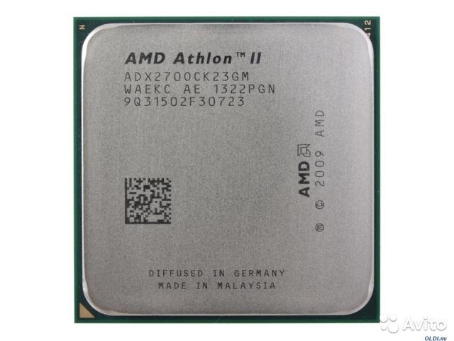 Процессор CPU AMD Athlon II X2 270 (ADX270O) 3.4 GHz/2core/ 2Mb/65W/ 4000MHz Socket AM3