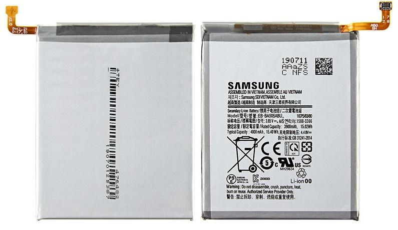 Аккумулятор EB-BA505ABU  для SAMSUNG Galaxy A50, A505F, A505FN/DS, A505GN/DS, A505W, A30s, A30  4000mAh