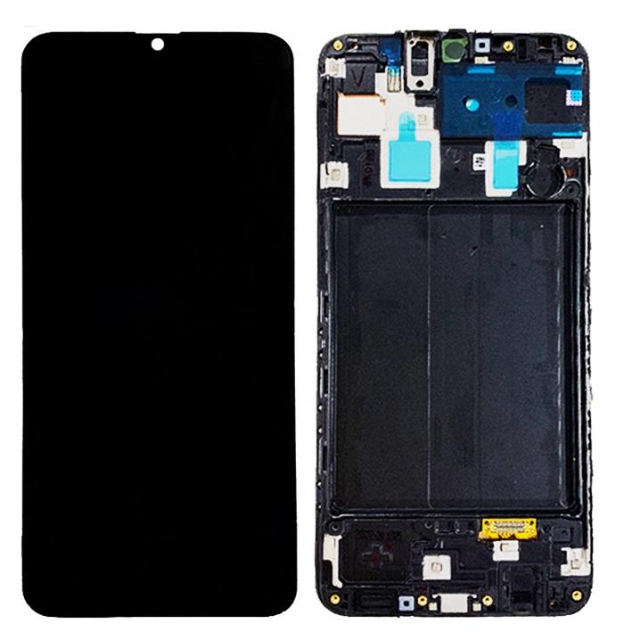 Дисплей для Samsung Galaxy A30s A307F A307 A307FN в сборе с сенсорной панелью + рама (oled)