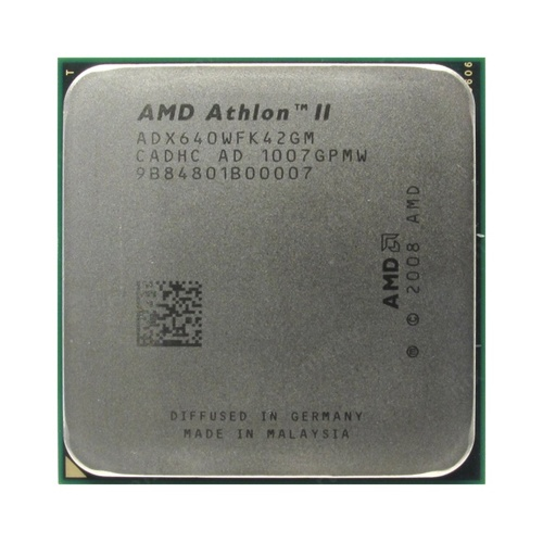 Процессор CPU AMD Athlon II X4 640 (ADX640W) 3.0 GHz/4core/ 2 Mb/95W/ 4000 MHz Socket AM3