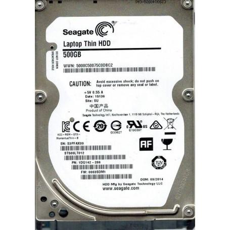 Жесткий диск HDD 500Gb Seagate 2,5