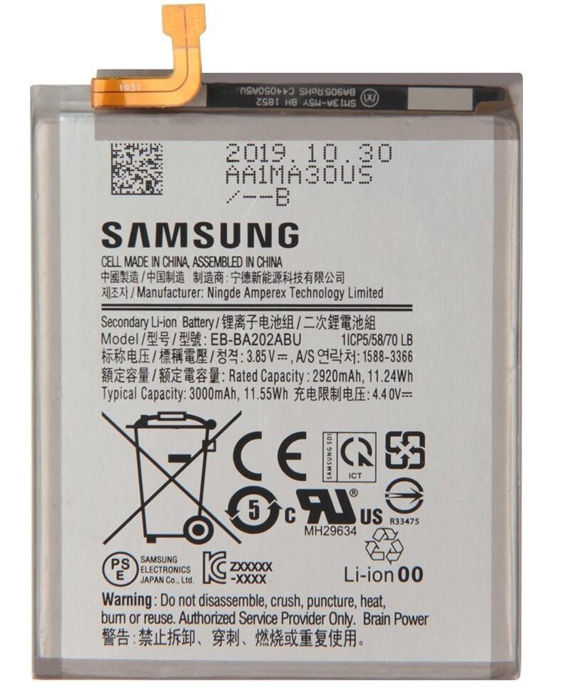 Аккумулятор EB-BA202ABU для Samsung  GALAXY A20e, A10e, A102W, A102U  3000mAh