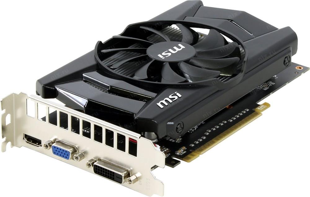 Видеокарта 2Gb GDDR5 MSI N750Ti-2GD5 D-Sub+DVI+HDMI