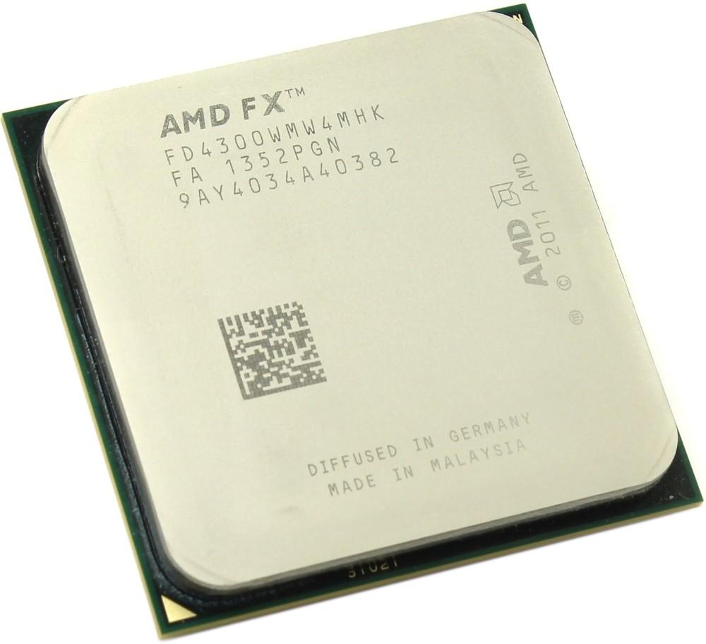 Процессор CPU AMD FX-4300 (FD4300W) 3.8 GHz/4core/ 4+4Mb/95W/5200 MHz Socket AM3+