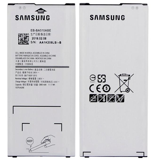 Аккумулятор EB-BA510ABE для Samsung Galaxy A5 2016 A510, A510F, A5100, A510M,A510FD, A510K, A510S  2900mAh
