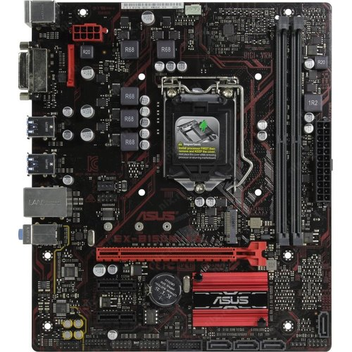 Мат. плата ASUS EX-B150M-V3 (OEM) LGA1151 <B150> PCI-E DVI GbLAN SATA MicroATX 2DDR4